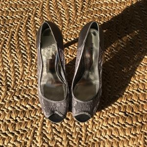 Style & Co Shoes - Grey lace heels